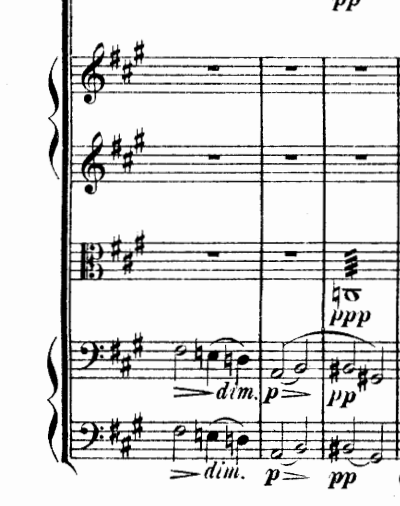 Antonín Dvořák's Othello includes this aborted resolution in the pianissimo measure in the cellos