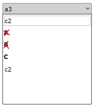 jqxdropdown filter groups