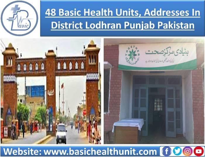 48 Basic Health Units And Address In District Lodhran Punjab Pakistan