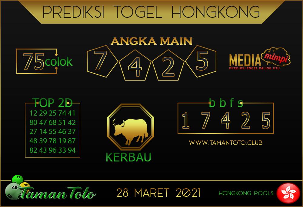 Prediksi Togel HONGKONG TAMAN TOTO 28 MARET 2021