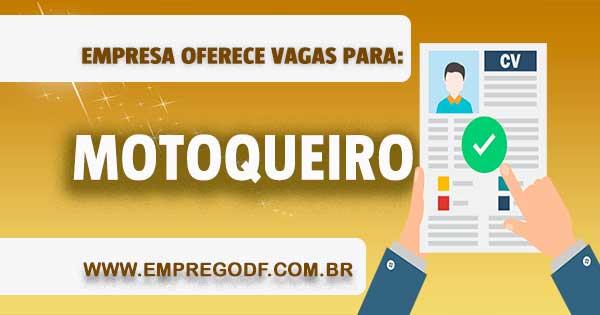 EMPREGO PARA MOTOQUEIRO