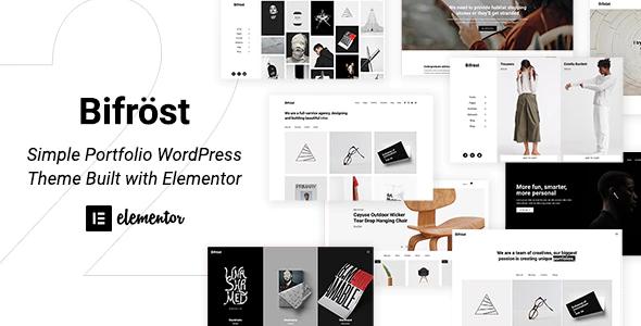 ThemeForest - Bifrost v2.0.3 - Simple Portfolio WordPress Theme - 23180008