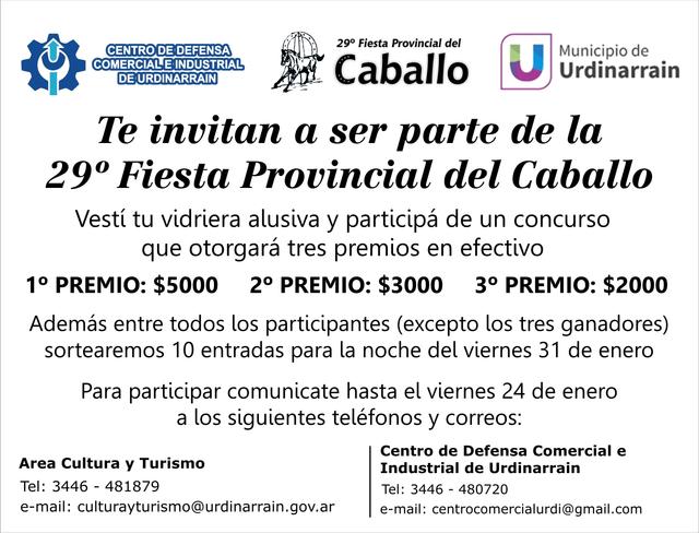 Locales: Concurso de vidrieras 29º Fiestas Provincial del Caballo