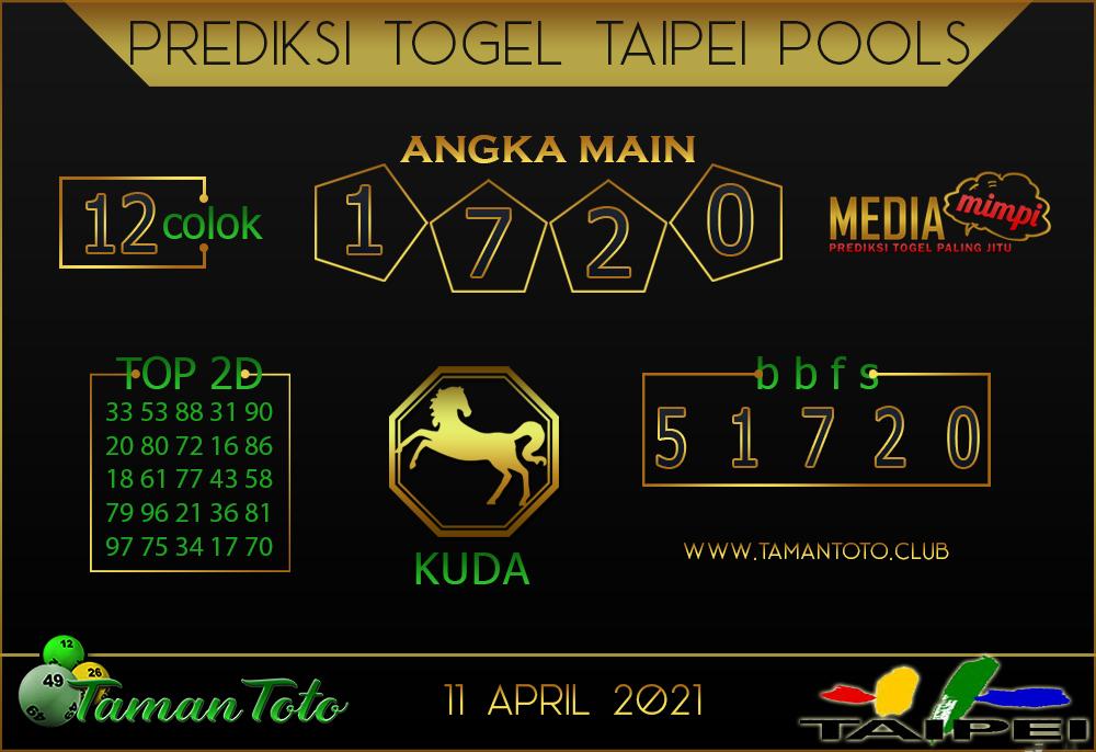 Prediksi Togel TAIPEI TAMAN TOTO 11 APRIL 2021