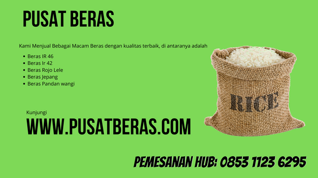 Distributor Beras Murah di Lampung Tengah wa 0853 1123 6295