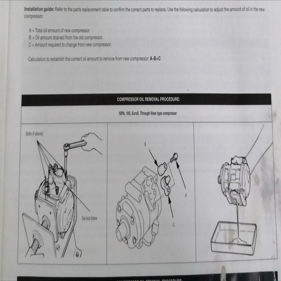 aircond compressor prosedure