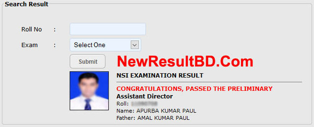 NSI Assistant Director (AD) Result 2019