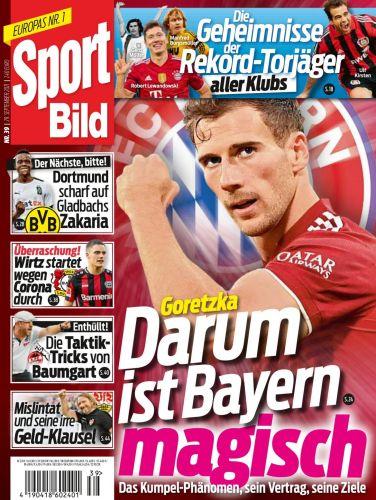 Cover: Sport Bild Magazin No 39 vom 29  September 2021