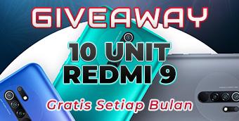 Giveaway 10 Unit Smartphone Redmi 9