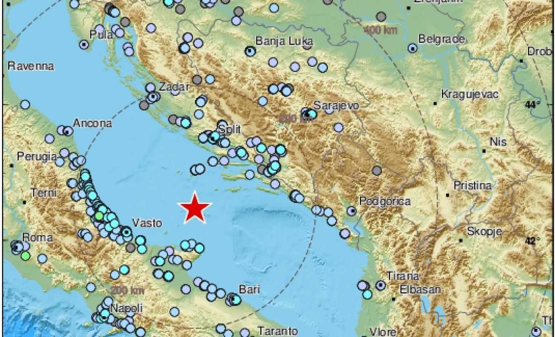 Više od 20 zemljotresa registrovano u Jadranu