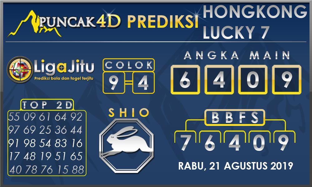 PREDIKSI TOGEL HONGKONG LUCKY7 PUNCAK4D 21 AGUSTUS 2019
