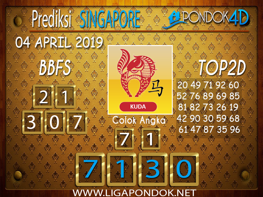 Prediksi Togel SINGAPORE PONDOK4D 04 APRIL 2019