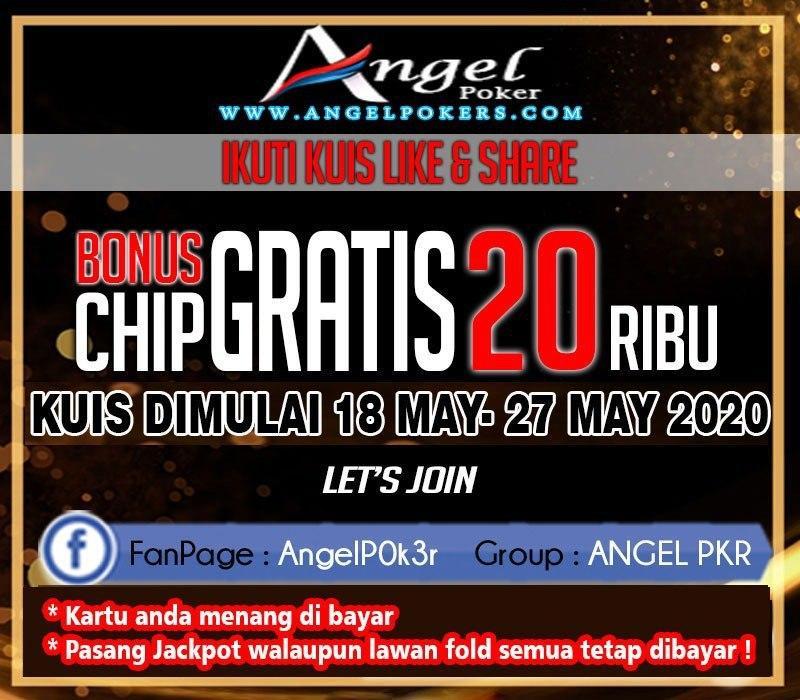 ANGELPOKER - Kuis Freechip Gratis Rp. 20.000 Tanpa Deposit