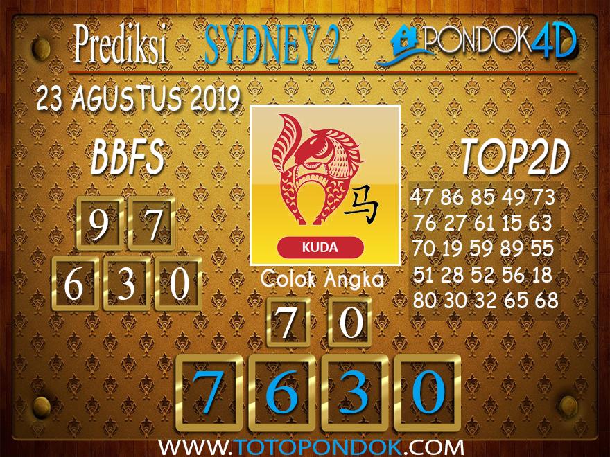 Prediksi Togel SYDNEY 2 PONDOK4D 23 AGUSTUS 2019