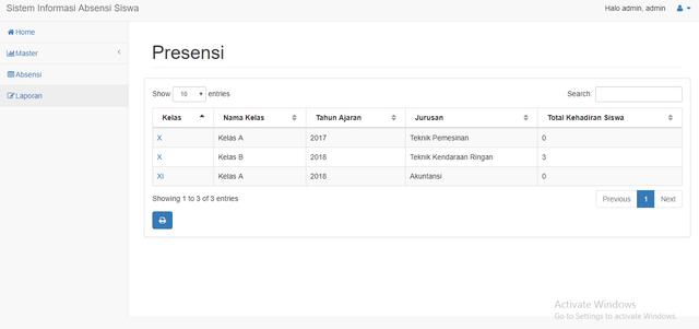 Tampilan Menu Laporan Absensi Sistem Yang Diusulkan. Tampilan menu laporan absensi siswa ini berisi fungsi tampilan untuk ...