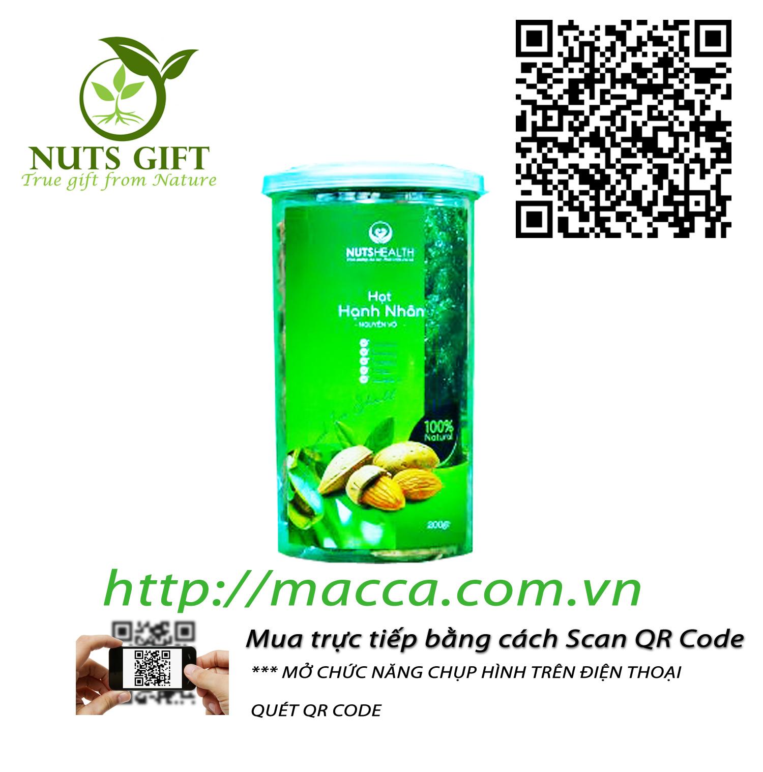 Hạt Hạnh Nhân Nguyên Vỏ – Nutshealth – 200Gr