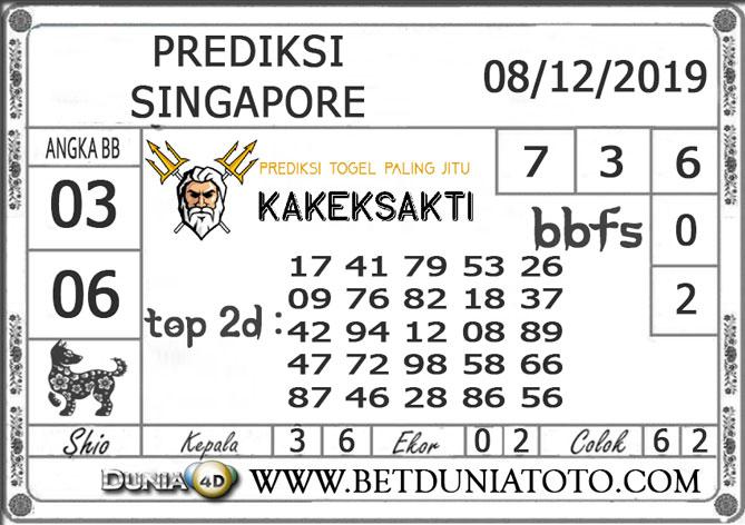 PREDIKSI TOGEL SINGAPORE DUNIA4D 08 DESEMBER 2019