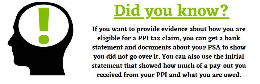 Evidence for a PPI Tax Claim