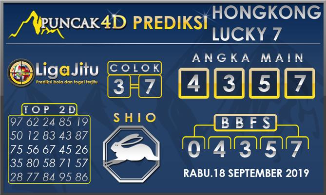 PREDIKSI TOGEL HONGKONG LUCKY7 PUNCAK4D 18 SEPTEMBER 2019