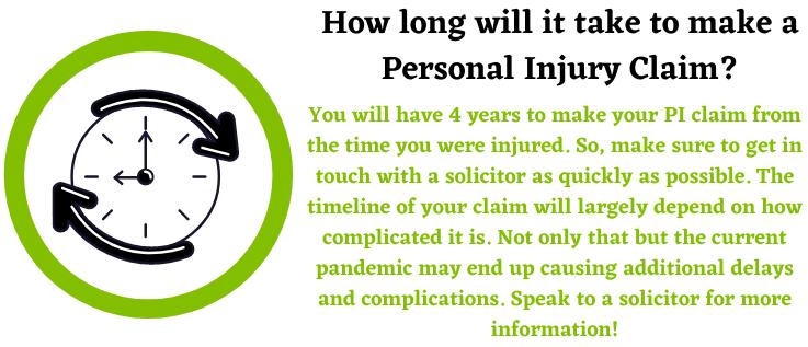 Personal Injury Claim Timeline