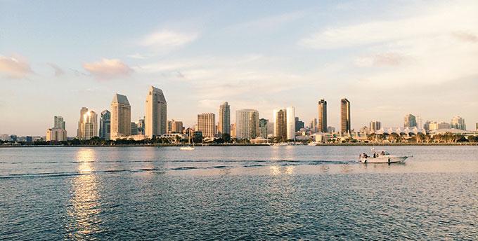 San Diego Skyline by Vitality Prokopets