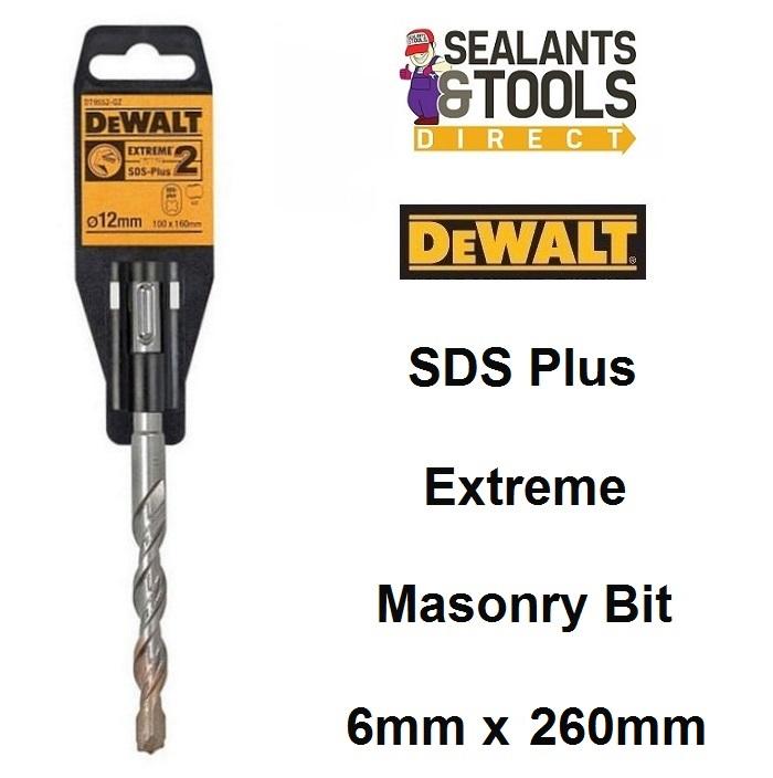 DeWalt Extreme 2 SDS Plus Masonry Drill Bit 6mm 260mm