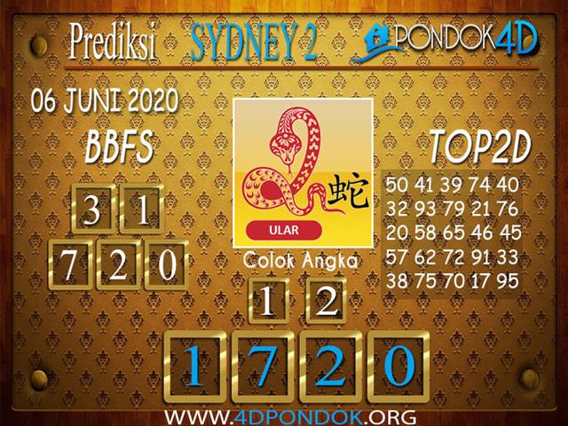 Prediksi Togel SYDNEY 2 PONDOK4D 06 JUNI 2020