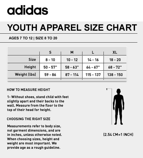 adidas shirt size guide
