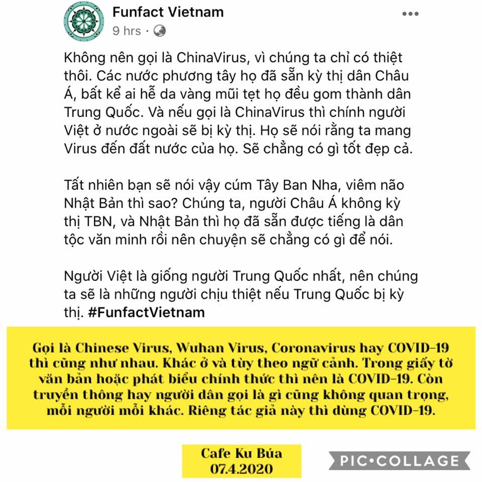 CHINESE VIRUS HAY COVID-19 – FUNFACT VIETNAM VÀ CAFE KU BÚA