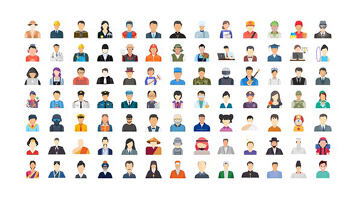 100 Human Avatars Icons 33962790 - Project for After Effects (Videohive)