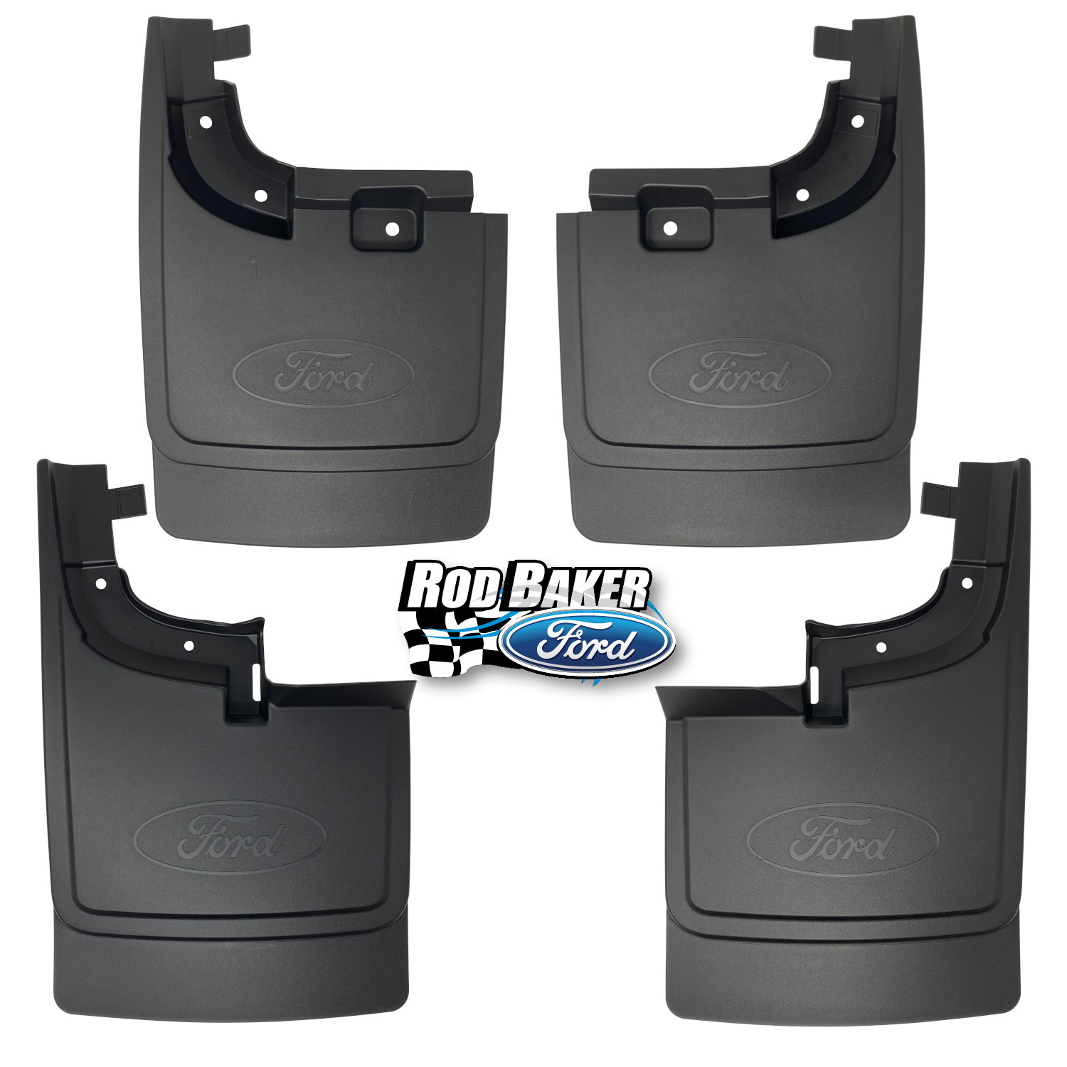 1 Pair Black Rear Left and Right Wheel Well Guards Flaps Fit for Ford F250 F350 Super Duty 2017 2018 2019