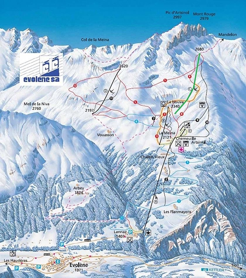 Téléski à enrouleurs biplaces (TKE2) Le Mont-Rouge Pdpe2