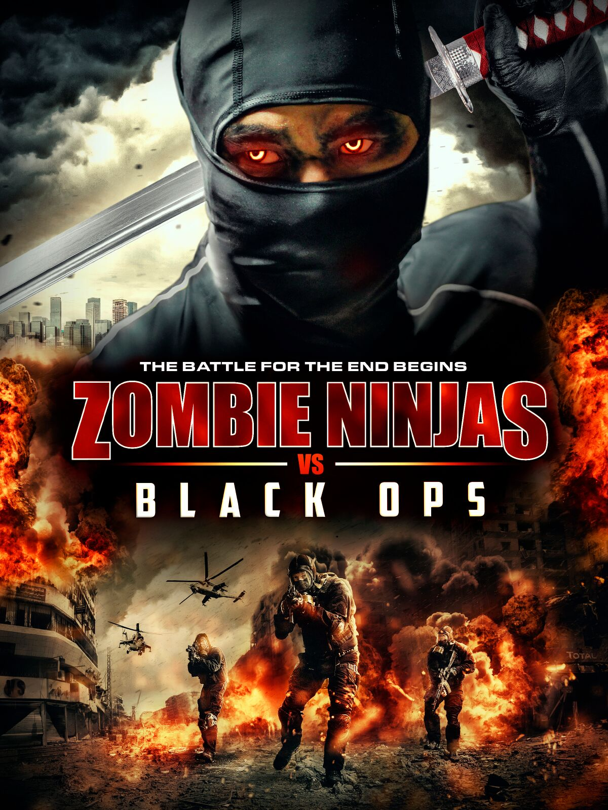 Zombie Ninjas vs Black Ops (2015) English 480p WEB-DL x264 AAC 350MB ESub