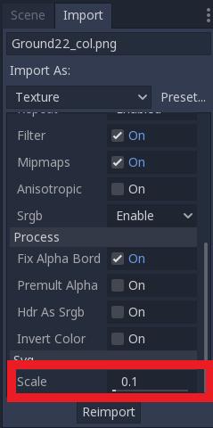 Reimport texture