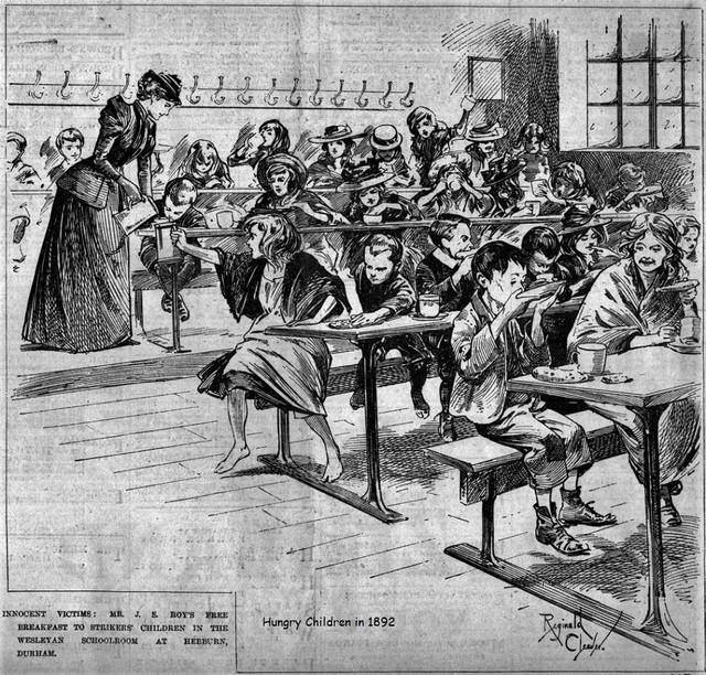Hebburn-1800s-Miners-Strike-drawing