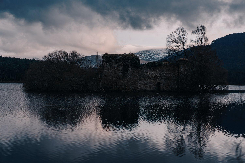 Loch an Eilein, castle, Aviemore