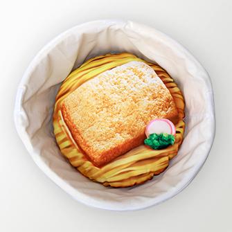 """日清泡麵創作了大型的""""丼""""形寵物床!目前正舉辦抽獎活動送出中! Image"""