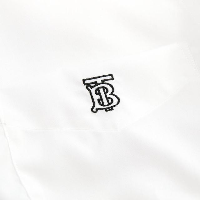 버버리 TB 자수 로고 셔츠
