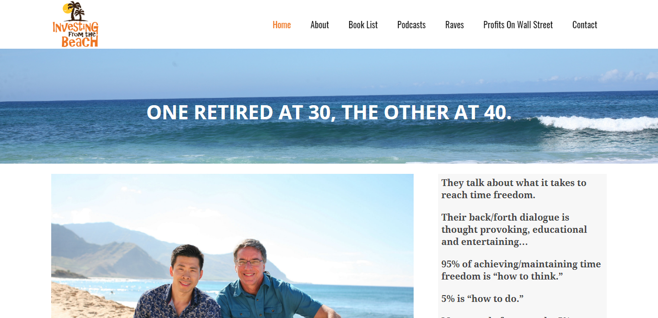 The Investing From The Beach travel product recommended by Mary Arrow on Pretty Progressive.