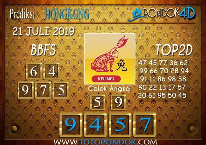 Prediksi Togel HONGKONG PONDOK4D 21 JULI 2019