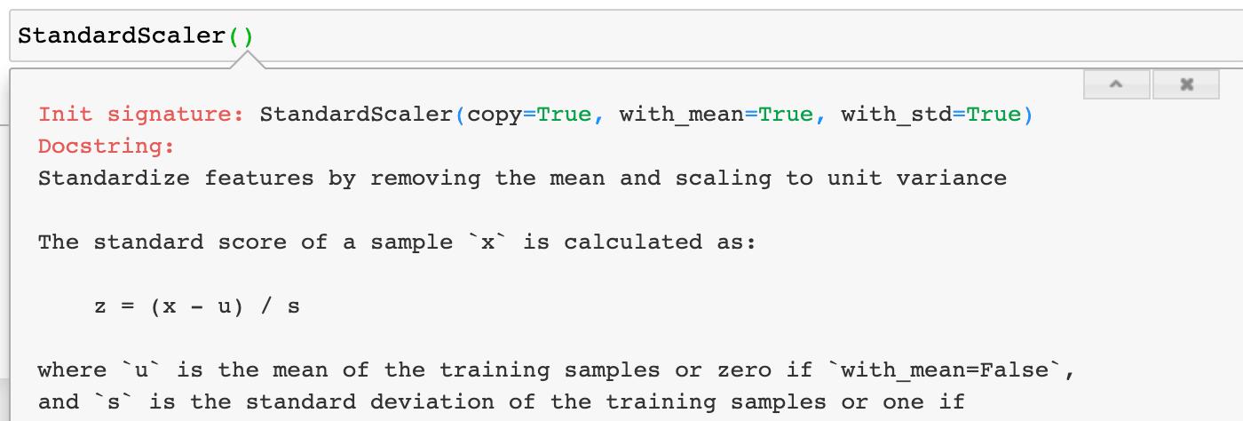 KNN algorithm StandardScaler normalization