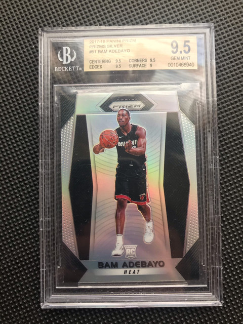 Fs Duncan Robinson Nt Rookie Auto 1 10 Bam Adebayo Silver Prizm Bgs 9 5 Blowout Cards Forums