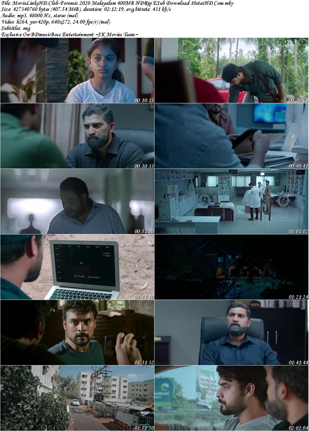 Forensic 2020 Malayalam 400mb Hdrip Esub Download 10starhd Pro