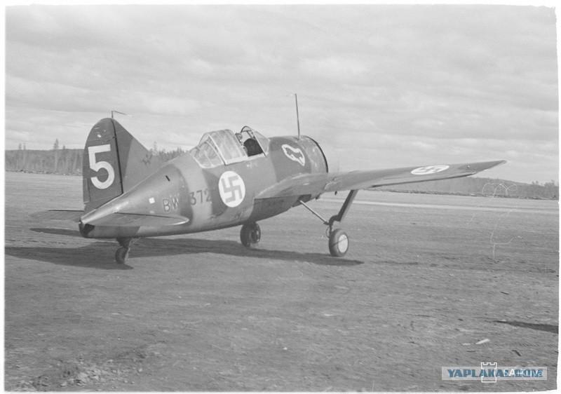 Brewster BW-372 at the Tiksha airfield, May 25, 1942. SA-kuva No. 89190