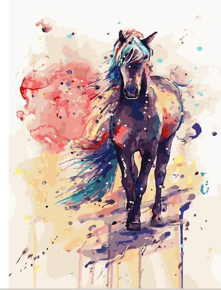 Картина по номерам Фантастическая лошадь G108