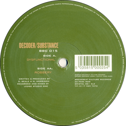 Decoder & Substance - Dysfunctional / Robbery 2000