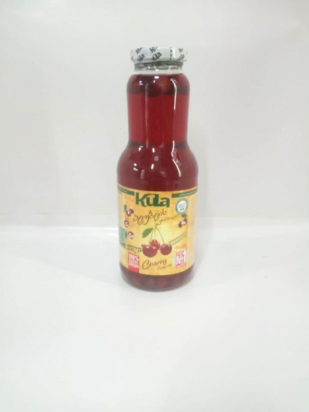 კომპოტი ალუბლის 1ლ - 1 liter of compote cherries