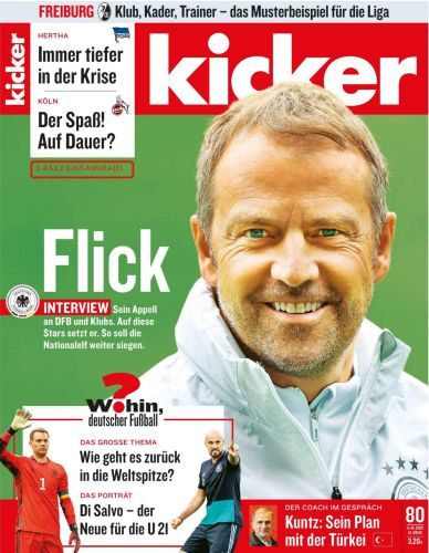 Cover: Kicker Sportmagazin No 80 vom 04  Oktober 2021