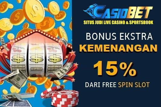 Bonus ekstra 15% kemenangan Free Spin Game Slot