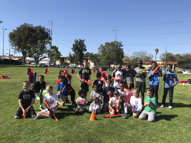 Group Photo of Clients who used our Nerf Birthday Party service in Torrance, California on March 16th of 2019.